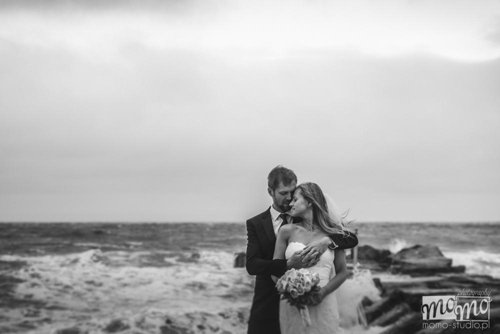Justyna i Darek - plener ślubny na plaży
