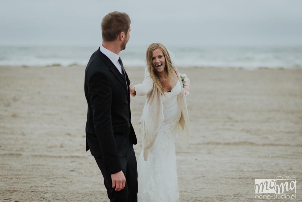 plenerowa sesja ślubna na plaży